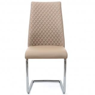 6x Esszimmerstuhl HWC-F31, Stuhl Küchenstuhl Freischwinger, Kunstleder - Vorschau 4