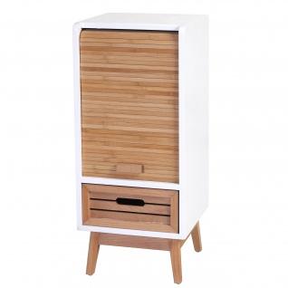 Kommode Larvik, Rollladen- Schubladenschrank, Retro-Design 71x30x30cm 1 Schublade - Vorschau 5