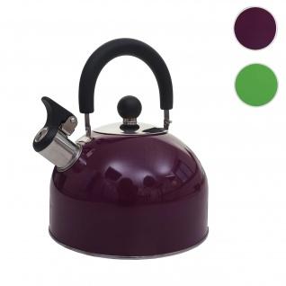 Flötenkessel HWC-J67, Wasserkessel Teekessel, Edelstahl hitzebeständig 2, 5l ~ violett