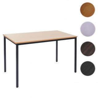 Schreibtisch Braila, Konferenztisch Bürotisch Seminartisch, 120x80cm MDF ~ Buche-Optik