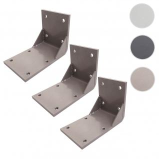 3x Deckenadapter für Kassetten-Markise T124, Deckenmontage Halterung Adapter ~ grau