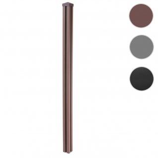 WPC-Pfosten Sarthe-WPC-Zaun, Pfeiler Pfahl, Stecksystem 1, 88m ~ braun