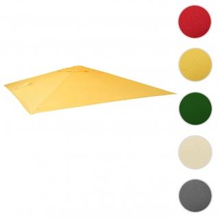 Bezug für Luxus-Ampelschirm HWC-A96, Sonnenschirmbezug Ersatzbezug, 3x3m (Ø4, 24m) Polyester 2, 7kg ~ gelb