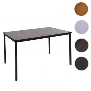 Schreibtisch Braila, Konferenztisch Bürotisch Seminartisch, 120x80cm MDF ~ schwarze Eiche-Optik