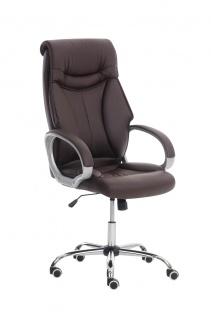 Bürostuhl CP228, Bürosessel Drehstuhl ~ braun