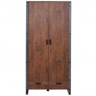Garderobenschrank HWC-A27, Kleiderschrank Schrank 190x90x50cm 3D-Struktur, Wildeiche-Optik - Vorschau 2