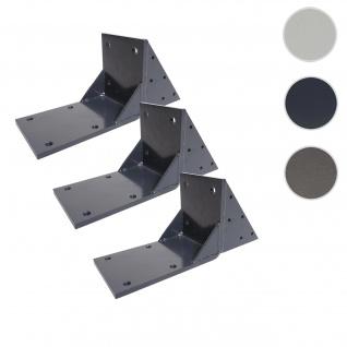 3x Dachsparrenadapter für Kassetten-Markise T124, Dachsparren Halterung Adapter ~ anthrazit