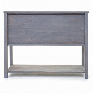 Kommode HWC-D57, Schiebetürenschrank Sideboard Schrank, Shabby-Look Vintage 81x102x34cm ~ dunkelgrau - Vorschau 5
