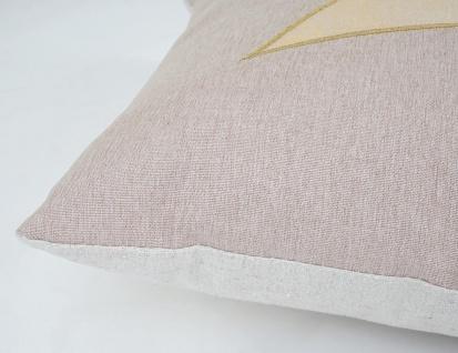 Deko-Kissen Stern, Sofakissen Zierkissen mit Füllung, Glanz-Effekt 45x45cm - Vorschau 4
