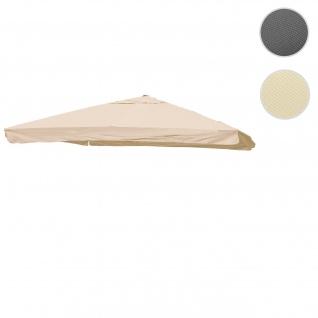 Bezug für Luxus-Ampelschirm HWC-A96 mit Flap, Sonnenschirmbezug Ersatzbezug, 3x4m (Ø5m) Polyester 4kg ~ creme