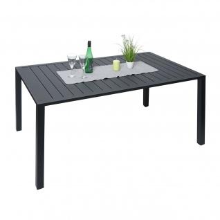 Gartentisch HWC-G12, Balkontisch Tisch, Alu 150x90cm schwarz