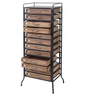 Apotheker-Schrank HWC-A43, Tanne Holz massiv Vintage Shabby-Look 129x55x38cm