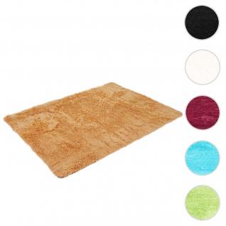 Teppich HWC-F69, Shaggy Läufer Hochflor Langflor, Stoff/Textil flauschig weich 230x160cm ~ braun