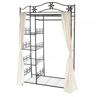 Garderobe Genf, Metallregal Kleiderschrank ~ mit Vorhang
