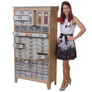 Apotheker-Schrank HWC-A43, Kommode, Tanne Holz massiv Vintage Shabby-Look 152x81x34cm