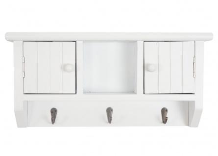Schlüsselbrett HWC-A48, Schlüsselkasten Schlüsselboard mit Türen, Massiv-Holz ~ weiß - Vorschau 3