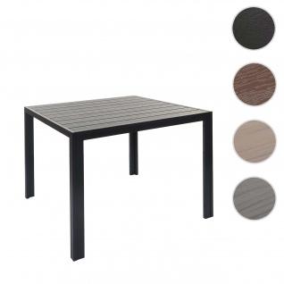 Gartentisch HWC-F90, Bistrotisch, WPC-Tischplatte 90x90cm ~ schwarz