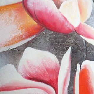 Ölgemälde Blumenzweig, 100% handgemaltes Wandbild Gemälde XL, 90x90cm - Vorschau 5