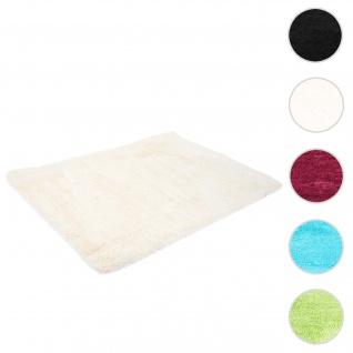 Teppich HWC-F69, Shaggy Läufer Hochflor Langflor, Stoff/Textil flauschig weich 200x140cm ~ creme