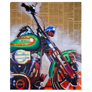 Ölgemälde Motorrad, 100% handgemaltes Wandbild Gemälde XL, 100x80cm - Vorschau 4