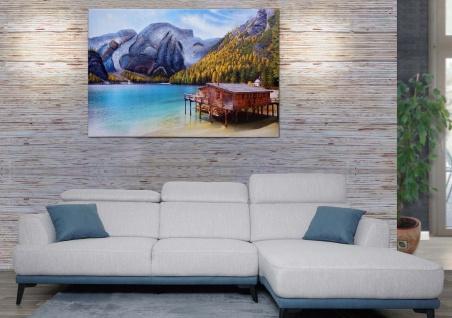Wandgemälde Landschaft HWC-H25, Leinwandbild Sandgemälde Gemälde, handgemaltes XL Wandbild 80x120cm