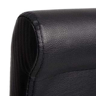 2x Barhocker HWC-C33, Barstuhl Tresenhocker, Holz ~ schwarz matt, dunkle Beine, Kunstleder - Vorschau 2