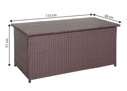 Poly-Rattan Kissenbox HWC-D43, Truhe Auflagenbox Gartentruhe, 51x115x58cm 220l braun - Vorschau 3
