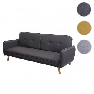 Schlafsofa HWC-J18, Couch Klappsofa Gästebett Bettsofa, Schlaffunktion Stoff/Textil ~ anthrazit-grau