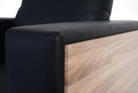 3-1-1 Sofagarnitur Nancy, Couch Kunstleder, schwarz - Vorschau 4