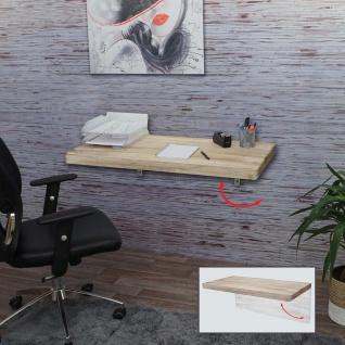 Wandtisch HWC-H48, Wandklapptisch Wandregal Tisch, klappbar Massiv-Holz ~ 100x50cm naturfarben - Vorschau 2
