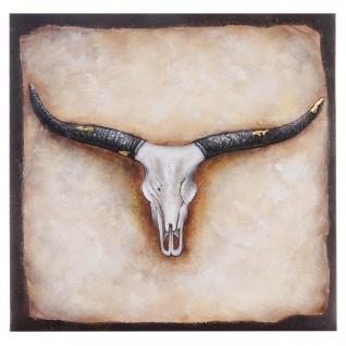 Ölgemälde Stier, 100% handgemalt, 100x100cm - Vorschau 1