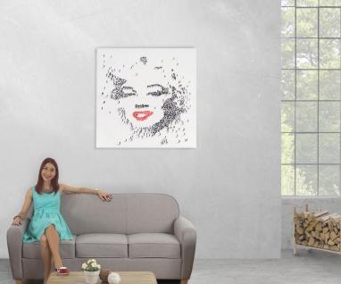 Ölgemälde Marilyn, 100% handgemalt XL, 100x100cm - Vorschau 5