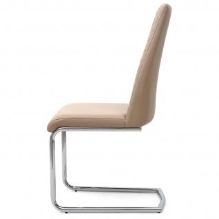 6x Esszimmerstuhl HWC-F31, Stuhl Küchenstuhl Freischwinger, Kunstleder - Vorschau 5