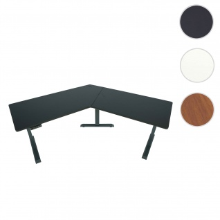 Schreibtisch HWC-D40, Computertisch, 120° elektrisch höhenverstellbar ~ schwarz, anthrazit-grau