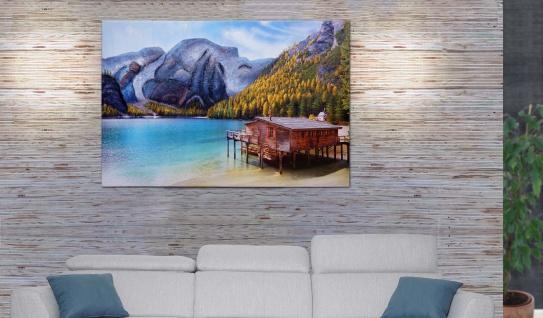 Wandgemälde Landschaft HWC-H25, Leinwandbild Sandgemälde Gemälde, handgemaltes XL Wandbild ~ 80x120cm