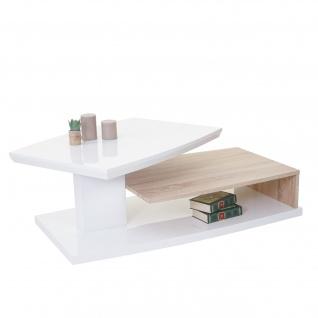 MCA Couchtisch HL Design Corinne, Wohnzimmertisch, hochglanz drehbar Eiche-Optik 40x115x60cm