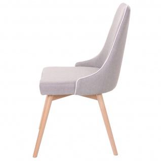 6x Esszimmerstuhl HWC-B44, Stuhl Küchenstuhl, Retro 50er Jahre Design Stoff/Textil grau - Vorschau 4