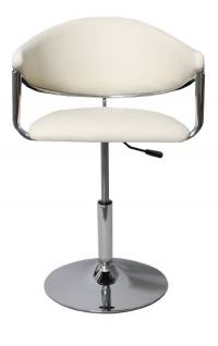 6x Barhocker Dema, Barstuhl Tresenhocker Lounge Stuhl, Kunstleder ~ creme