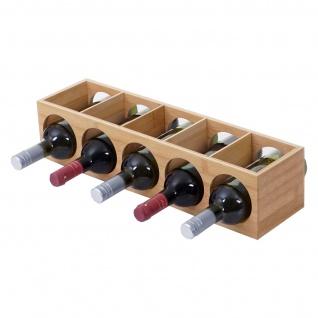 Weinregal HWC-B89, Flaschenständer Flaschenregal Weinflaschenständer, Bambus 53x14x13cm 1 Stück