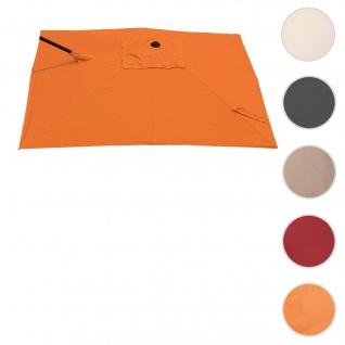 Bezug für Ampelschirm HWC-A39, Sonnenschirmbezug Ersatzbezug, 3x3m (Ø4, 24m) Polyester 2, 8kg ~ terrakotta