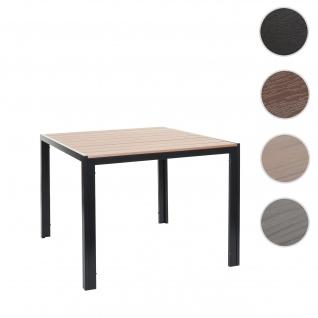 Gartentisch HWC-F90, Bistrotisch, WPC-Tischplatte 90x90cm ~ hellbraun