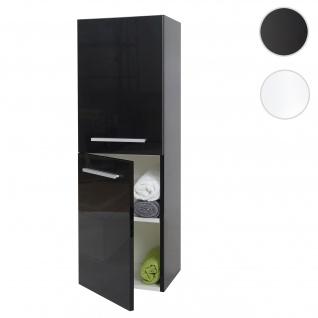 Hängeschrank HWC-C11, Midischrank Badschrank Badezimmer Badmöbel, hochglanz 110x35cm schwarz