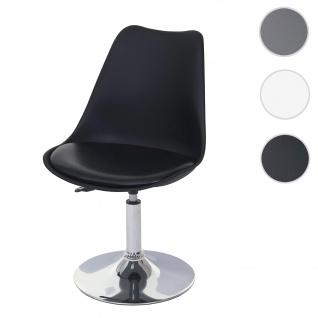 Drehstuhl Malmö T501, Stuhl Küchenstuhl, höhenverstellbar, Kunstleder ~ schwarz, Chromfuß