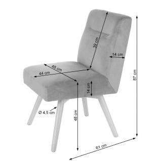 6x Esszimmerstuhl HWC-F38, Stuhl Küchenstuhl, Retro Design Samt - Vorschau 3