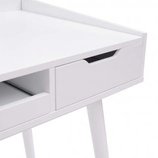 Schreibtisch HWC-A70b, Bürotisch Computertisch, MDF 120x55cm ~ weiß - Vorschau 5