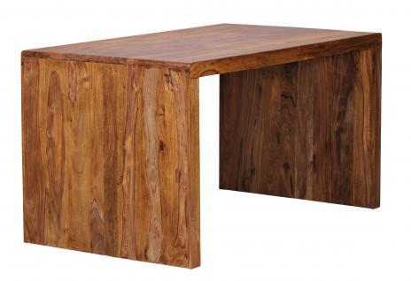 Schreibtisch Malatya, Computertisch Bürotisch, Sheesham Massivholz, 76x160x60cm