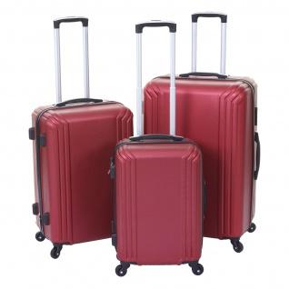 3er Set Koffer HWC-D54a, Reisekoffer Hartschalenkoffer Trolley Handgepäck, Höhe 72/60/50cm - Vorschau 2