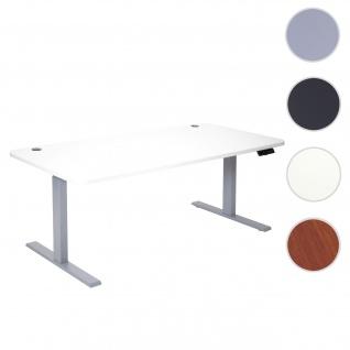 Schreibtisch HWC-D40, Bürotisch Computertisch, elektrisch höhenverstellbar Memory 160x80cm 53kg ~ weiß, grau