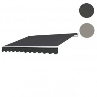 Bezug für Markise HWC-E49, Gelenkarmmarkise Ersatzbezug Sonnenschutz, 2, 5x2m ~ Polyester anthrazit