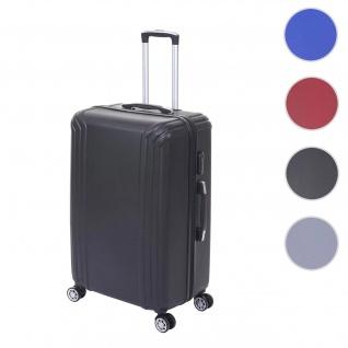 Koffer HWC-D54, Reisekoffer Hartschalenkoffer Trolley, 60x42x26cm 64l ~ schwarz, Premium D54a